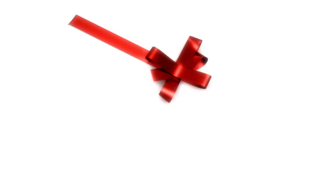 Red Ribbon tying on box (HD)