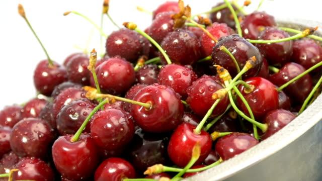 Cerejas vermelhas Maduras