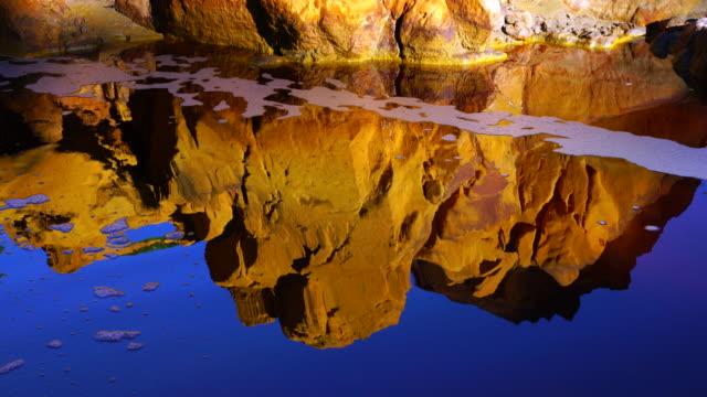 red river, sierra morena, gulf of cádiz, huelva, andalucia, spain, europe - fluss red river stock-videos und b-roll-filmmaterial