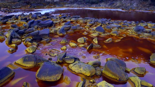 red river, sierra morena, gulf of cádiz, huelva, andalucia, spain, europe - huelva province stock videos & royalty-free footage