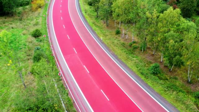 red road - animal markings stock videos & royalty-free footage