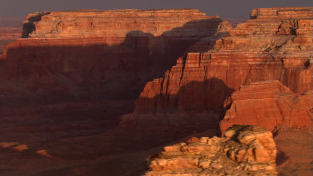red rock cliffs and shadows - artbeats stock videos & royalty-free footage
