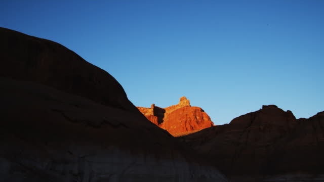 red rock formation - lago powell video stock e b–roll