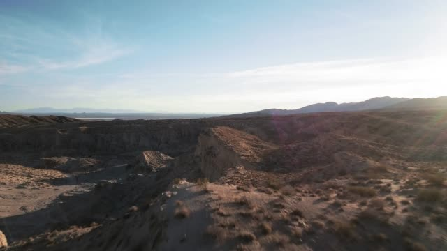 red rocks canyon state park, california - aerial view - red rocks stock videos & royalty-free footage
