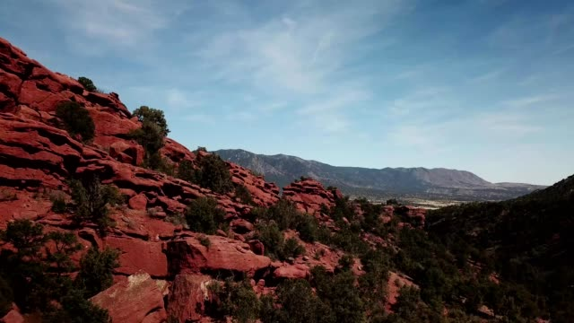 red rocks near garden park - red rocks stock videos & royalty-free footage