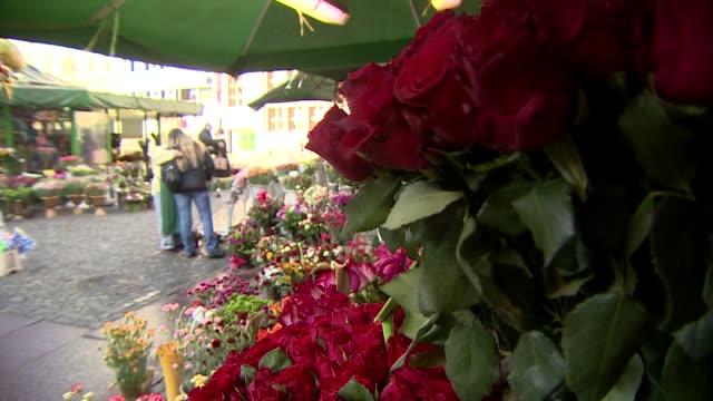 stockvideo's en b-roll-footage met red roses at flower sale - bedektzadigen