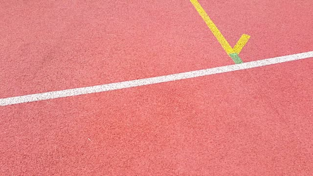 red running track in stadium - track and field event stock videos and b-roll footage