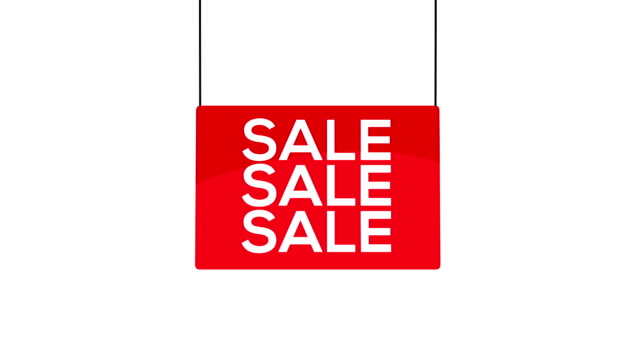 red sale sign - price tag stock videos & royalty-free footage