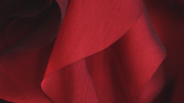 CU TU Red satin fabric / Milan, Italy