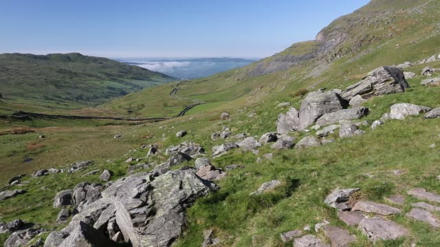 red screes in the lake district, uk. - red lake stock videos & royalty-free footage