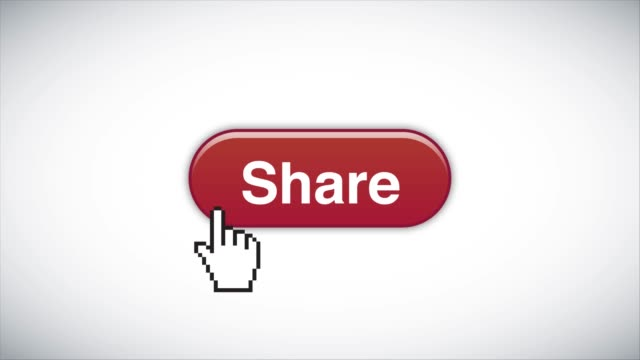 red share web interface button clicked with mouse cursor 4k stock video - sharing stock videos & royalty-free footage