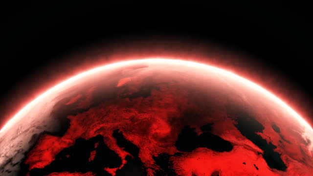 red shiny earth  (loopable) - red stock videos & royalty-free footage