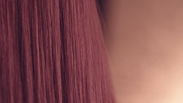 red shiny hair - thin stock videos & royalty-free footage