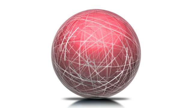 vídeos y material grabado en eventos de stock de lazo rojo esfera red - símbolo