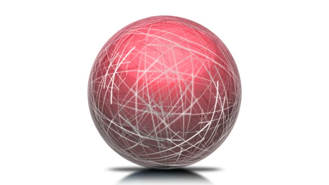 Lazo rojo esfera Red
