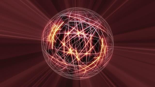 red sphere network loop - paranormal stock videos & royalty-free footage