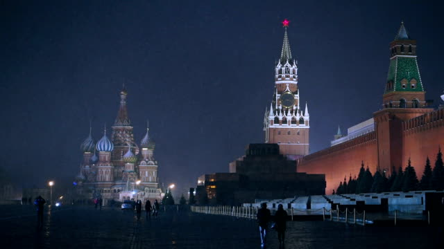 red square at night - russian culture stock videos & royalty-free footage