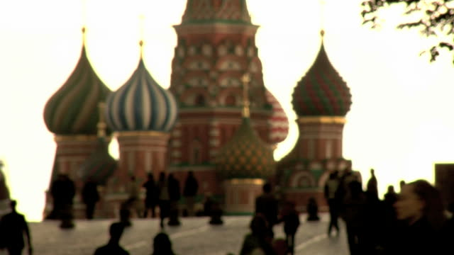 red square, moscow, russia, st basil cathedral - moscow russia stock videos & royalty-free footage
