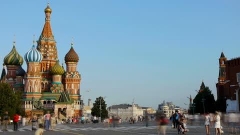 vidéos et rushes de la place rouge. de moscou - moscow russia