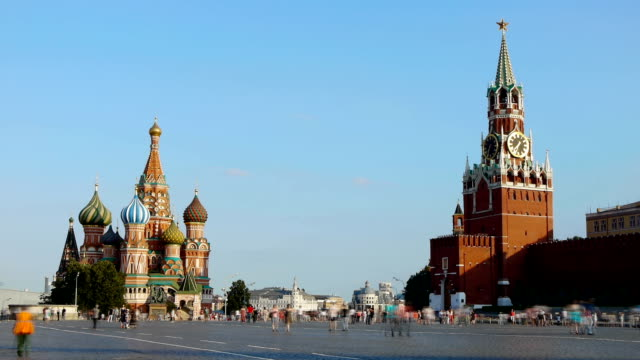 stockvideo's en b-roll-footage met red square. moscow - moskou rusland
