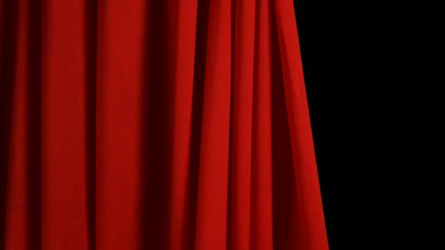 red stage curtain opens and closes - curtain stock videos & royalty-free footage