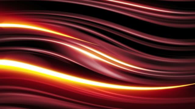 vídeos de stock, filmes e b-roll de listras vermelho fundo de loop - linha ondulada