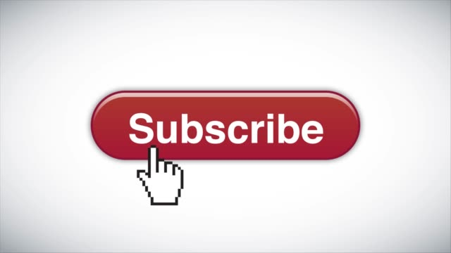red subscribe web interface button clicked with mouse cursor 4k stock video - cursor stock videos & royalty-free footage