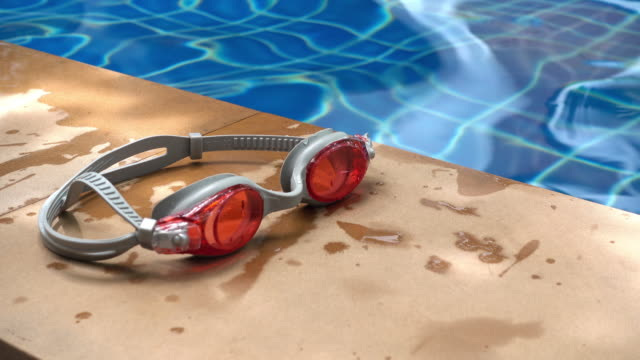 Red Swimming Goggles