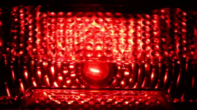 Red Taillight ein Motorrad zu laufen.