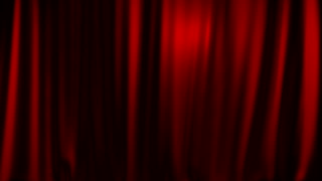 Red theater curtain entering from above with matte