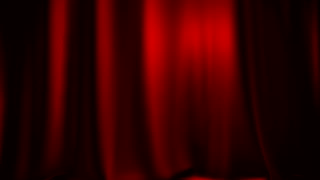 red theater curtain entering from side with matte - beaded curtain stock videos & royalty-free footage