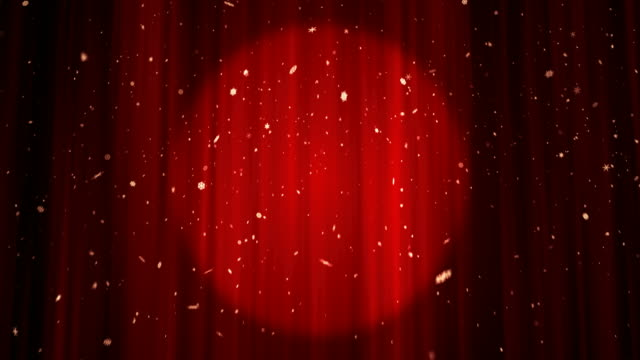 Red Theatre Stage Curtain - 4K | Loopable