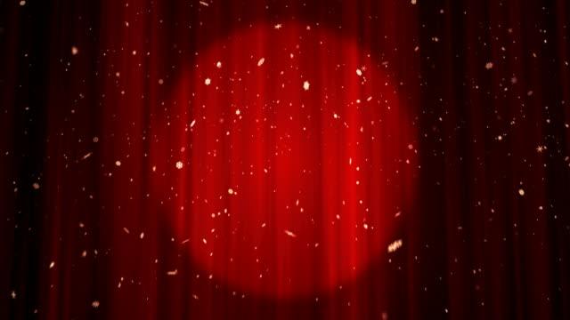 Theater Bühne roten Vorhang - 4 k/Endlos wiederholbar