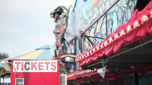 red ticket booth - coney island brooklyn stock videos & royalty-free footage