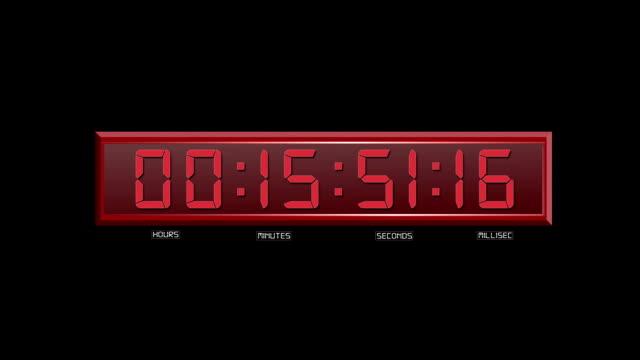 vídeos de stock e filmes b-roll de vermelho elemento de código temporal - vingança