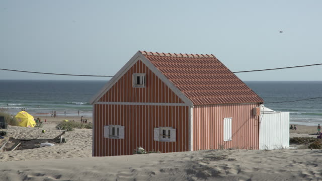 red tiny house - beach house stock videos & royalty-free footage