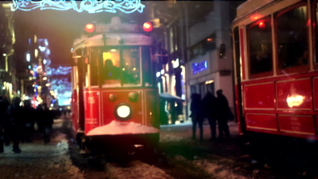 red tram - nostalgia stock videos & royalty-free footage