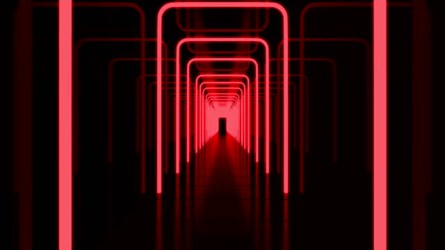 Red Tunnel Background Loop