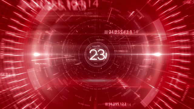 red tunnel data countdown 30 seconds - countdown stock videos & royalty-free footage