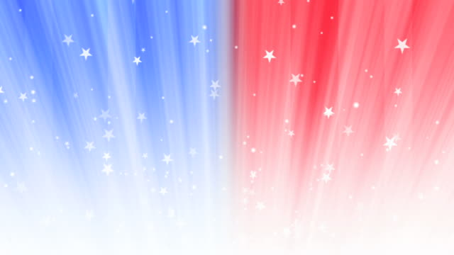 red, white and blue background loop - fourth of july stock videos & royalty-free footage