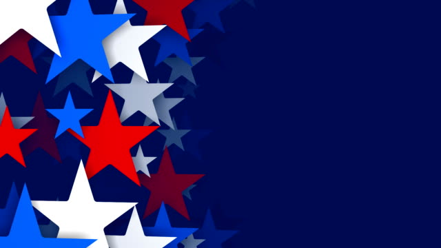 red, white and blue stars zooming by, vertical composition (loopable) - patriotism stock videos & royalty-free footage
