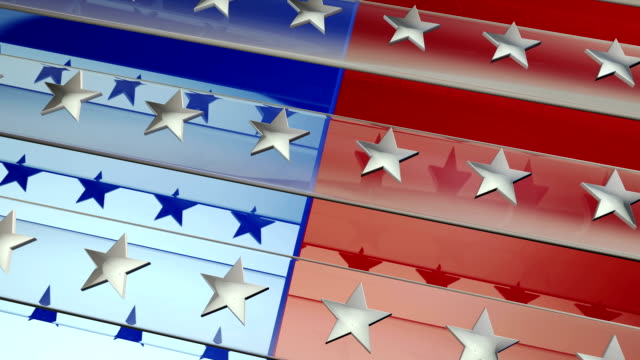 red, white & blue patriotic background - us republican party stock videos & royalty-free footage