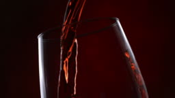 Red wine pour series, slow motion