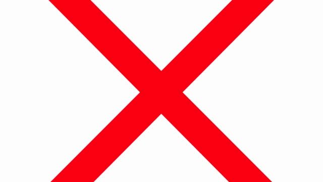 red x prohibited sign - letter x stock videos & royalty-free footage