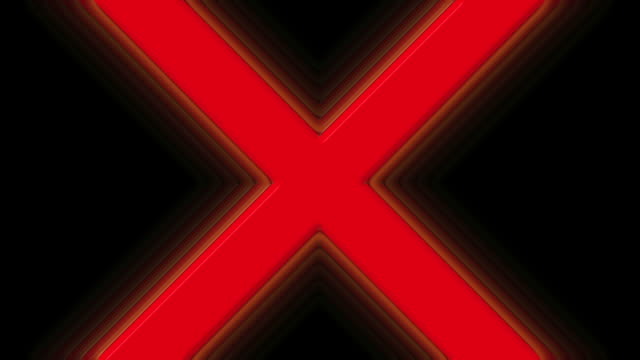 red x prohibited symbol - letter x stock videos & royalty-free footage