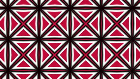 赤、黒、白の幾何学的形状、パターンモーション - 投影図点の映像素材/bロール