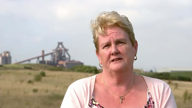 reaction of families england teesside redcar ext silhouette of ssi steelworks against blue sky row of houses in residential area row of houses with... - closed sign stock videos and b-roll footage
