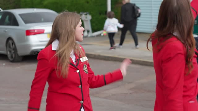 redcoats saying hello to holidaymakers at butlins, skegness, as the resort reopens to guests after coronavirus lockdown - tourist resort stock videos & royalty-free footage