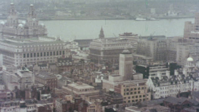1976 montage redeveloping a city / liverpool, england, united kingdom - liverpool england stock-videos und b-roll-filmmaterial