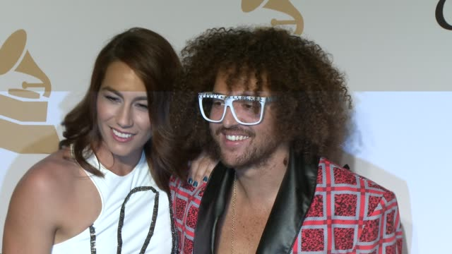 redfoo at the pre-grammy gala and salute to industry icons honoring martin bandier at the beverly hilton hotel on february 07, 2015 in beverly hills,... - the beverly hilton hotel stock videos & royalty-free footage